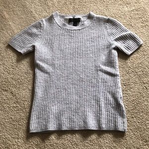 Gray Ribbed Shirt